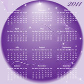 Calendar 2011 full year — Stock Vector