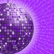 Disco ball purple — Stock Vector