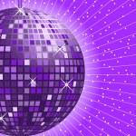 Disco ball purple — Stock Vector #3614804