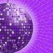 Disco ball purple — Stock Vector