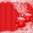 Stock Vector: Christmas balls red