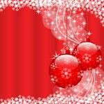 Rode kerstballen — Stockvector