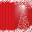 Xmas tree red background — Stock Vector