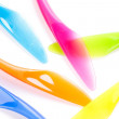 Colorful plastic cutlery — Foto de Stock
