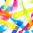 Royalty-Free Stock Photo: Colorful plastic cutlery