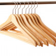 Wooden hanger — Stock Photo