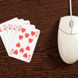 Internet gambling — Stock Photo
