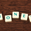 Royalty-Free Stock Photo: Word money