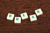 Word break — Stock Photo