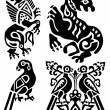 Tattoo of birds and mythical animals — Stock Vector #2884089