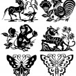 Stock Vector: Animals tattoo