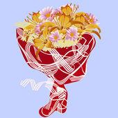 Wedding bunch of flowers — Stock Vector