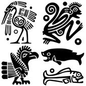 Ancient American tattoos — Stock Vector
