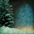 Grunge dark winter background — Stock Photo