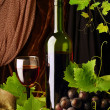 Red wine arrangement — Stock Photo