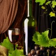 Red wine arrangement — Foto de Stock