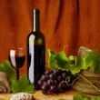 Foto de Stock  : Red wine and sandstones