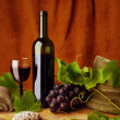 Red wine and sandstones — Stock Photo