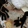 Stock Photo: Vintage accessories background