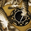 Vintage romance with guitar in detail — Stock Photo