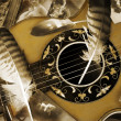 Vintage romance with guitar in detail — Stock Photo #2782203