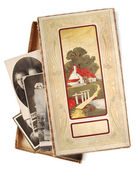 Box with old photos — Stock Photo
