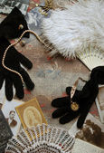 Vintage accessoires achtergrond — Stockfoto