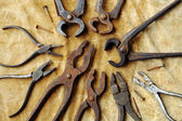 Vintage pliers in detail — Stock Photo