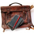 Stock Photo: Vintage schoolbag
