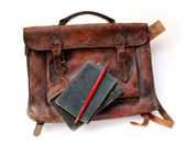 Vintage schoolbag — Stock Photo