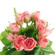 Pink bunch of roses — Stock Photo