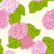 Stock Vector: Peonies pattern