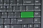 Grey key in keyboard — Stock Photo