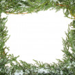 Green Christmas frame — Stock Photo