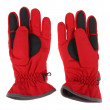 Warm pair of winter red ski gloves — Stock Photo #3907341