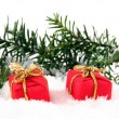 Foto Stock: Two christmas gift bo