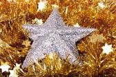 Fundo de natal com estrelas — Foto Stock