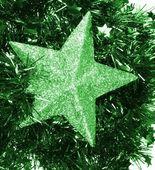 Green flickering sta — 图库照片