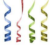 Cztery kolor wstążki kręcone — Zdjęcie stockowe