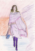 Fashion sketch — Stock Photo