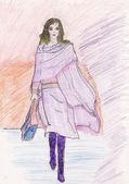 Fashion sketch — Stock Photo