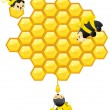 Working Bees — Stockvectorbeeld