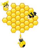 Working Bees — Stock Vector