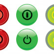 Power buttons — Stock Vector #3545657