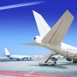 Part of airliner at the airport — Stock Photo