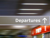 Tourist info signage departures — Stock Photo