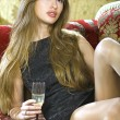 Rich woman on expensive sofa — ストック写真 #2740452