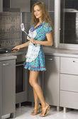 Beautiful housewife — Stock Photo