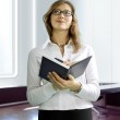 Business woman with notebook — Stock Photo #2763043