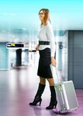 Passenger at the airport — Stock Photo